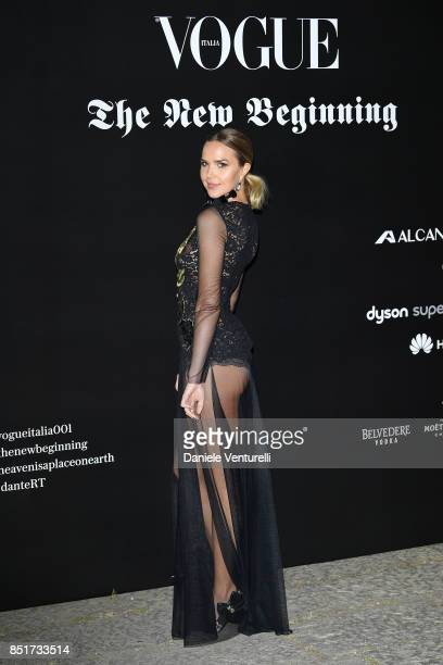 Arielle Kebbel attends theVogue Italia 'The New Beginning' Party during Milan Fashion Week Spring/Summer 2018 on September 22 2017 in Milan Italy