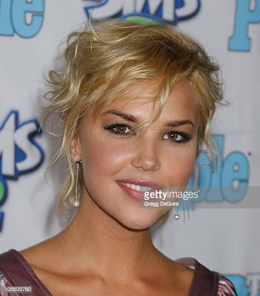 Arielle Kebbel during 1st Annual Teen People Young Hollywood Issue at Teen People Mansion in West Hollywood California United States