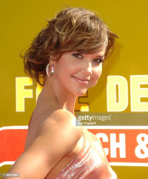 Arielle Kebbel during 2007 MTV Movie Awards Arrivals at Gibson Amphitheater in Los Angeles California United States