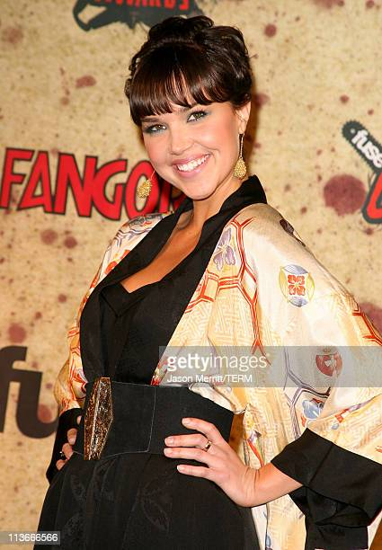 Arielle Kebbel during Fuse Fangoria Chainsaw Awards Press Room at Orpheum Theatre in Los Angeles California United States