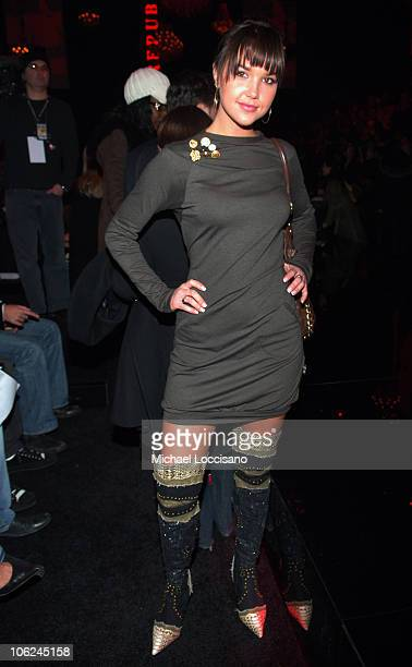 Arielle Kebbel during MercedesBenz Fashion Week Fall 2007 Rock Republic Arrivals and Front Row at Cipriani in New York City New York United States