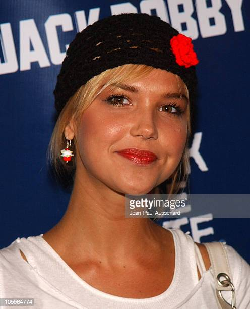 Arielle Kebbel during The WB Network's Jack and Bobby Rock the Vote Party Arrivals at Warner Bros Studios in Burbank California United States