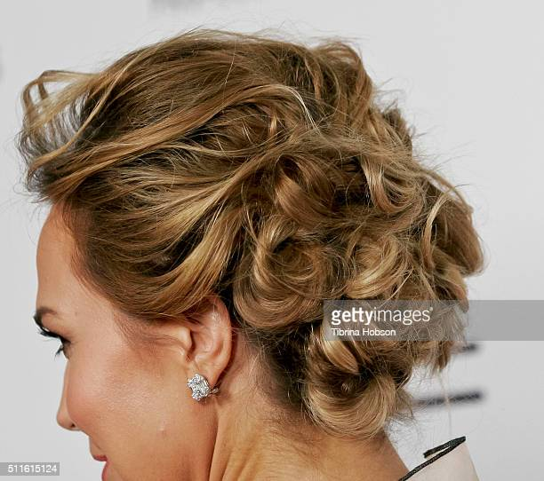 Arielle Kebbel fashion detail attends the MakeUp Artists and Hair Stylists Guild Awards at Paramount Studios on February 20 2016 in Hollywood...