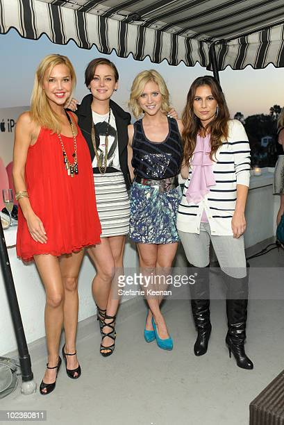 Arielle Kebbel Jessica Stroup Brittany Snow and Nicole Chavez attend LOFT Fall 2010 Press Preview and Cocktail Party at Chateau Marmont on June 23...
