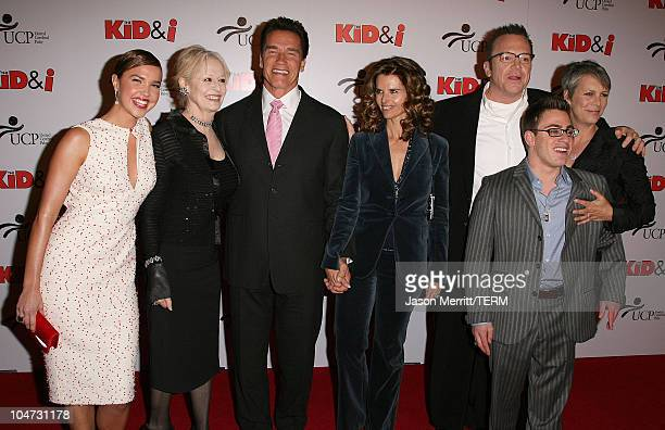 Arielle Kebbel Penelope Spheeris director of The Kid I Arnold Schwarzenegger Maria Shriver Tom Arnold Eric Gores and Jamie Lee Curtis