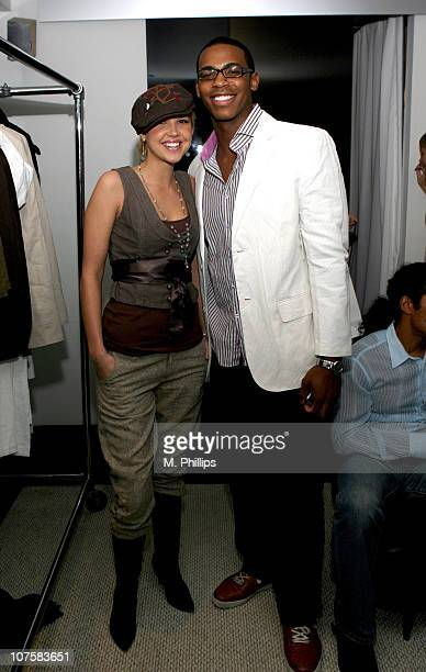 Arielle Kebbell and Mehcad Brooks during GQ / Calvin Klein Celebrity Poker Tournament Benefiting Peace Games - Calvin Klein Gift Lounge at Private...