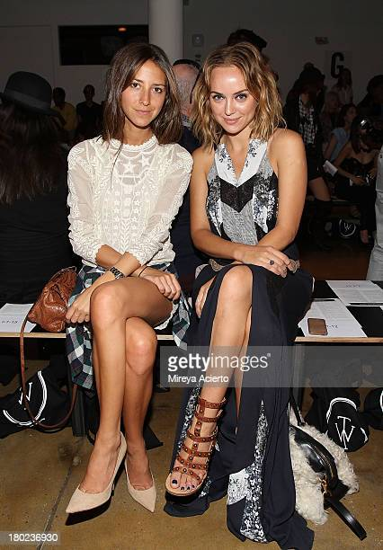 Arielle Nachmani and Kelly Framel attend the Timo Weiland Women's MADE Fashion Week Spring 2014 at Milk Studios on September 10 2013 in New York City