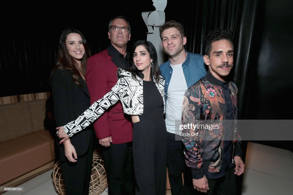 Arielle O'Neill, Bruce Campbell, Dana DeLorenzo, Lindsay Farris and Ray Santiago attend Hulu's New York Comic Con After Party at The Lobster Club on October 6, 2017 in New York City.