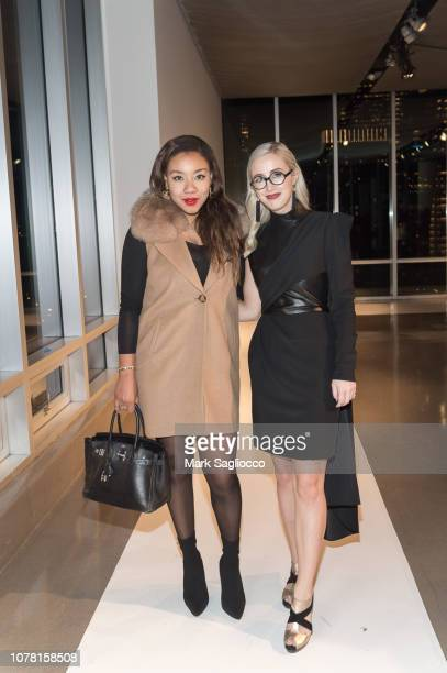 Arielle Patrick and Sterling McDavid attend the Burnett New York PreFall Fashion Presentation and Launch Party at The Glasshouses on December 05 2018...