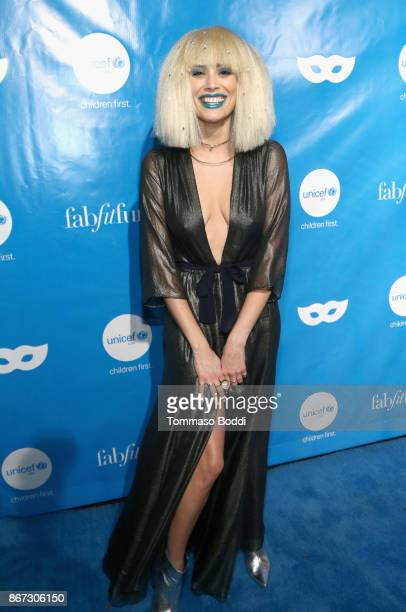 Arielle Vandenburg at the UNICEF Next Generation Masquerade Ball at Clifton's Republic on October 27 2017 in Los Angeles California