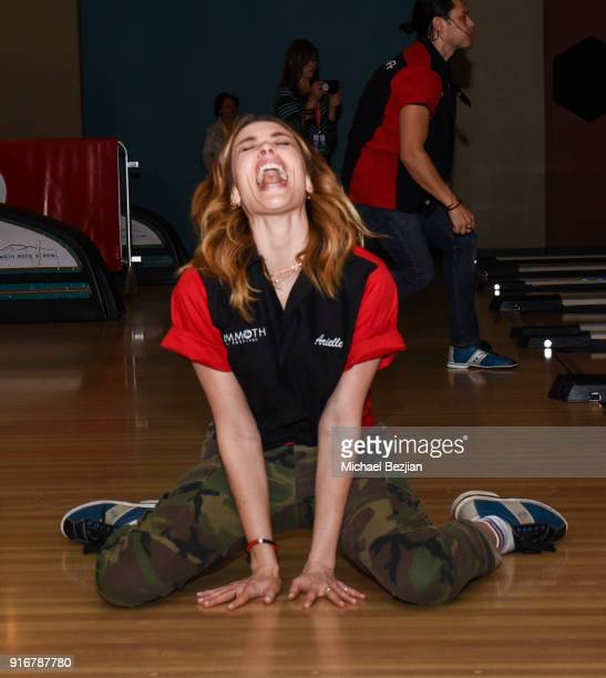 Arielle Vanderberg bowls at The Inaugural Mammoth Film Festival on February 10 2018 in Mammoth Lakes California