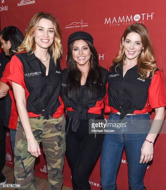 Arielle Vanderberg Cassandra Scerbo and Ashley Greene arrive at The Inaugural Mammoth Film Festival on February 10 2018 in Mammoth Lakes California