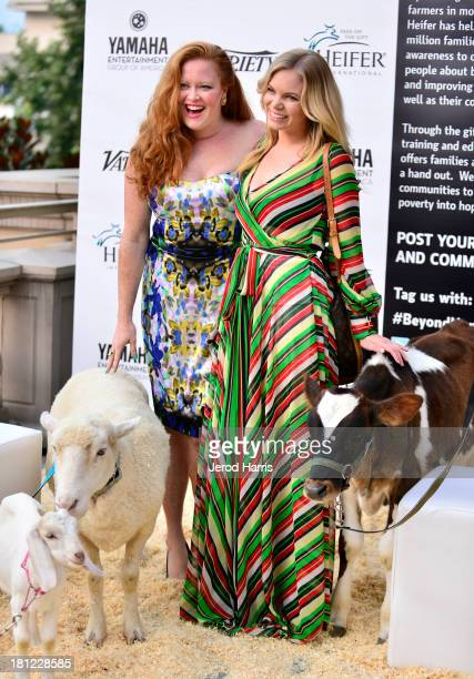 Arielle Yuspeh and Coco Quinn attend Heifer International's 2nd Annual 'Beyond Hunger A Place at the Table' to Help End World Hunger and Poverty at...