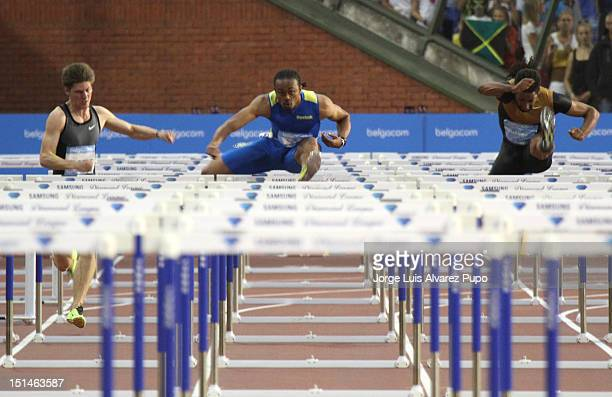 Aries Merritt of the United States competes during the Men's 110m Hurdles as part of the IAAF Golden League meeting and sets a new World Record of...