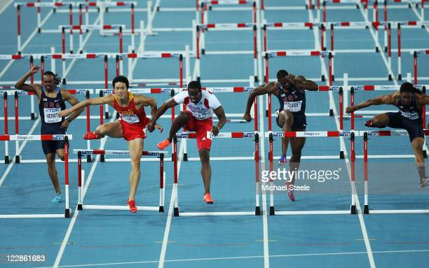Aries Merritt of United States, Xiang Liu of China, Dayron Robles of Cuba, David Oliver of United States and Jason Richardson of United States...