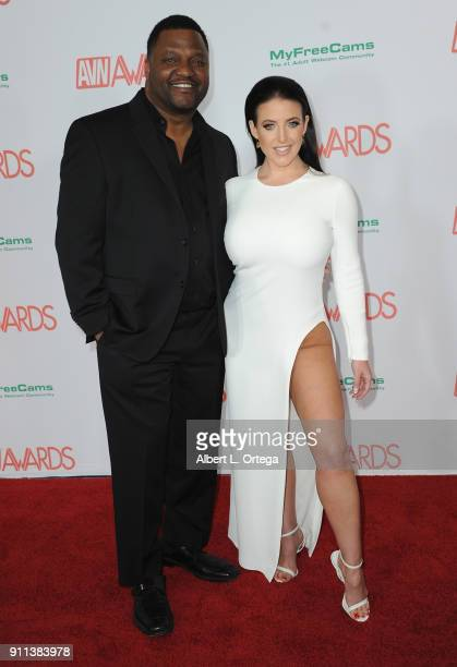 Aries Spears and Angela White attend the 2018 Adult Video News Awards held at Hard Rock Hotel Casino on January 27 2018 in Las Vegas Nevada
