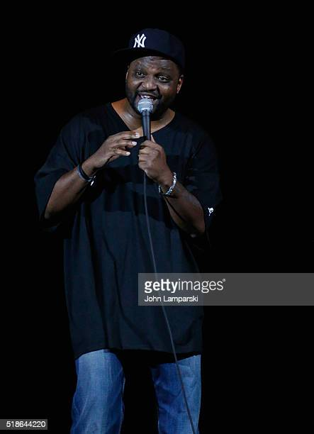 Aries Spears performs during Hot 97 Presents April Fools Comedy Show at The Theater at Madison Square Garden on April 1 2016 in New York City