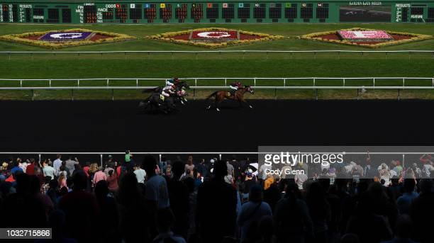 Aries with William Antongeorgi III up on their way to winning the 4th Race during Summer Races at Golden Gate Fields on Sunday September 2 2018 in...