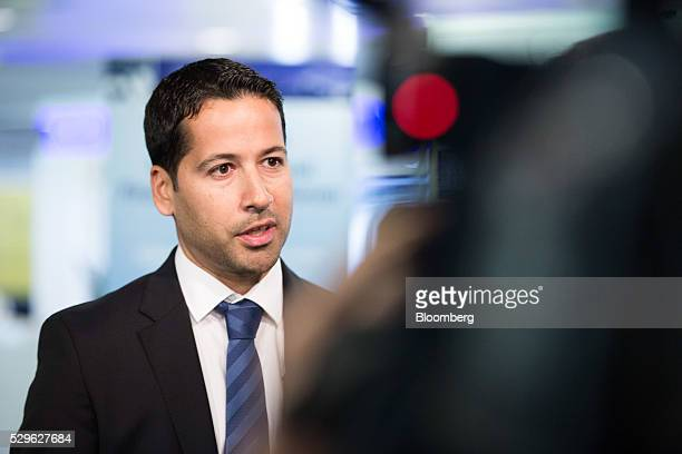 Arif Amiri chief executive officer of Dubai International Financial Centre speaks during a Bloomberg Television interview at the City Week...