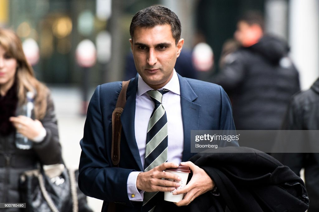 Arif Hussein, a former UBS Group AG trader, arrives to challenge a decision by the Financial Conduct Authority (FCA) to ban him from the finance industry, at the Rolls Building in London, U.K., on Wednesday, Jan. 3, 2018. Hussein, who was banned over allegations that he manipulated Libor rates, told the London court that his actions were 'mandated' and 'sanctioned' by the bank. Photographer: Chris J. Ratcliffe/Bloomberg via Getty Images