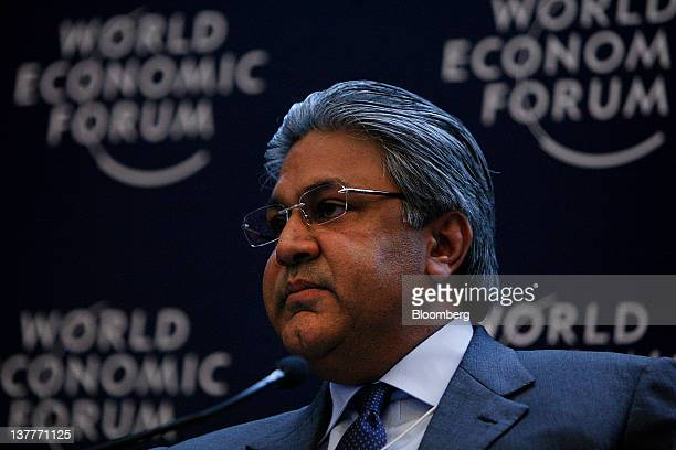 Arif M Naqvi founder and chief executive officer of Abraaj Capital Ltd of the United Arab Emirates listens during a session on day two of the World...