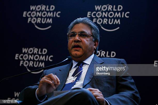 Arif M Naqvi founder and chief executive officer of Abraaj Capital Ltd of the United Arab Emirates speaks during a session on day two of the World...