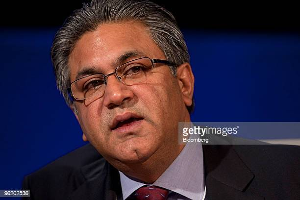 Arif M Naqvi founder and chief executive officer of Abraaj Capital Ltd of the United Arab Emirates speaks during a panel discussion on day one of the...