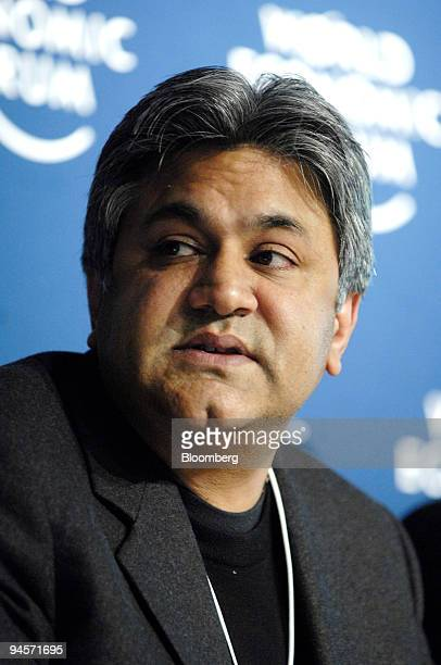 Arif M Naqvi vice chairman and chief executive officer of Abraaj Capital listens during a session entitled 'Middle East' on day one of the World...