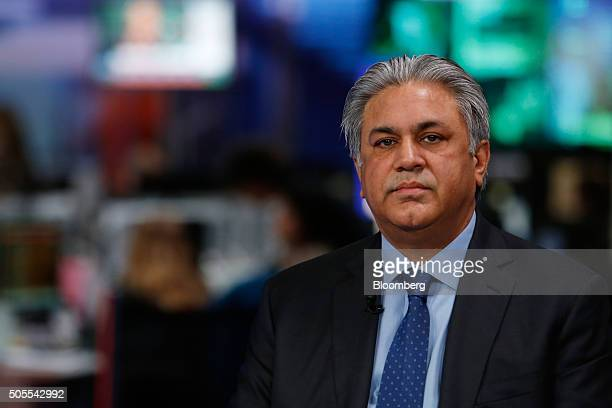 Arif Naqvi chief executive officer of Abraaj Capital Ltd pauses during a Bloomberg Television interview in London UK on Monday Jan 18 2016 Brent...