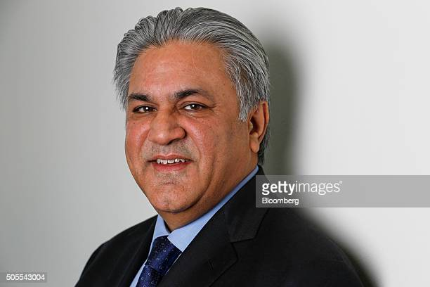 Arif Naqvi chief executive officer of Abraaj Capital Ltd poses for a photograph following a Bloomberg Television interview in London UK on Monday Jan...