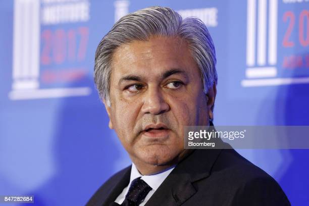 Arif Naqvi chief executive officer of Abraaj Capital Ltd speaks at the Milken Institute Asia Summit in Singapore on Friday Sept 15 2017 The...