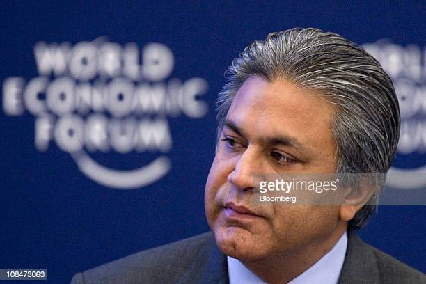 Arif Naqvi chief executive officer of Abraaj Capital speaks during a session on the third day of the World Economic Forum Annual Meeting 2011 in...