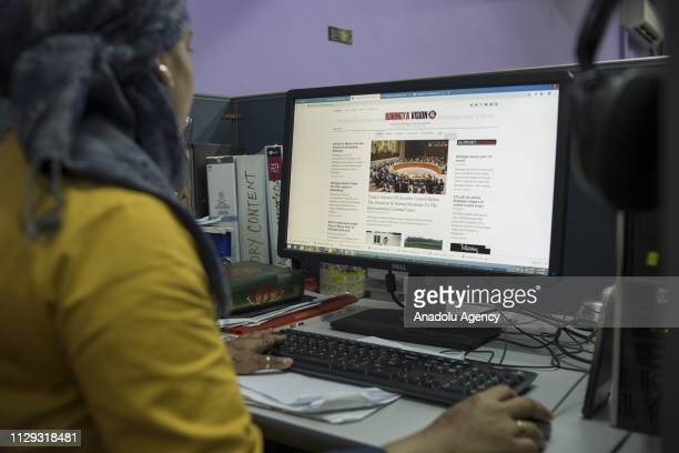Arifa Sultana a journalist and the website editor for the Rohingya Vision TV prepares the website with the latest news at the office in Kuala Lumpur...