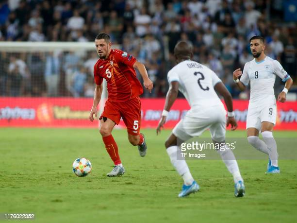 Arijan Ademi of North Macedonia controls the ball during the UEFA Euro 2020 Qualifier match between Israel and North Macedonia at Turner-Stadion on...