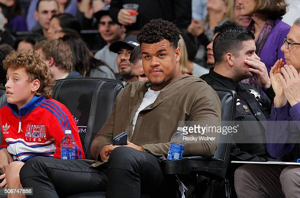 Arik Armstead of the San Francisco 49ers attends the game between the Atlanta Hawks and Sacramento Kings on January 21 2016 at Sleep Train Arena in...