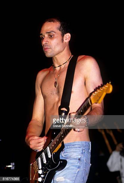 Arik Marshall of Red Hot Chili Peppers performs at Lollapalooza Waterloo New Jersey August 1 1991
