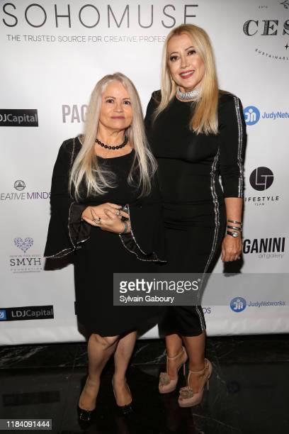 Arilda McClive and Maria Elena Paganini attend PAGANINI HONORS PAGANINI A Tribute To Niccolo Paganini By Maria Elena Paganini on October 28 2019 in...