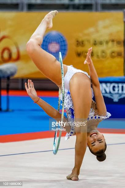 Arina Averina of  Russia during Individual Hoop Final at the Arena Armeec in Sofia at the 36th FIG Rhythmic Gymnastics World Championships on...