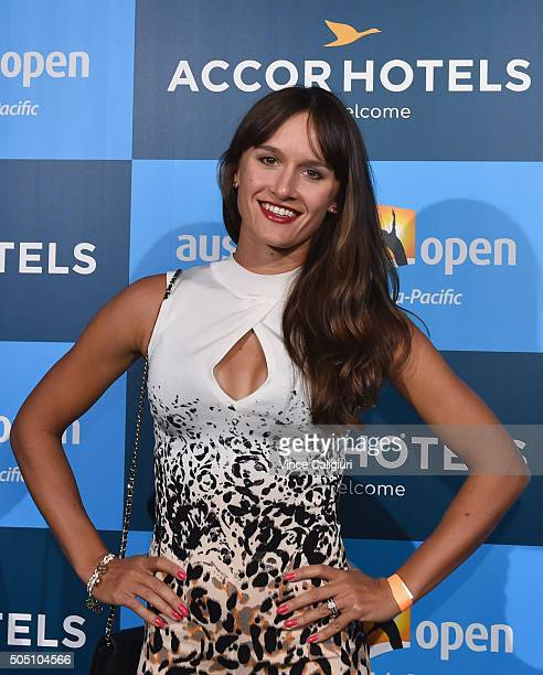 Arina Rodionova of Australia arrives at the 2016 Australian Open Players Party at Club Sofitel Lounge on January 15 2016 in Melbourne Australia