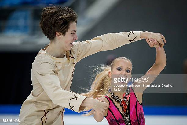 Arina Ushakova and Maxim Nekrasov of Russia compete during the Junior Ice Dance Free Dance on day two of the ISU Junior Grand Prix of Figure Skating...