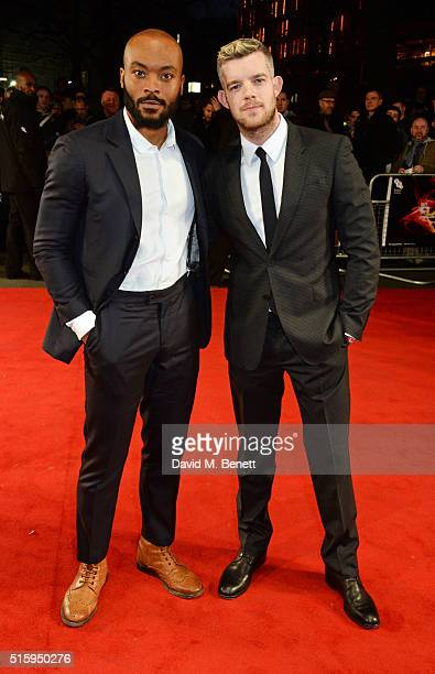 Arinze Kene and Russell Tovey attend the UK Premiere of 'The Pass' the opening night film of BFI Flare The London LGBT Film Festival at Odeon...