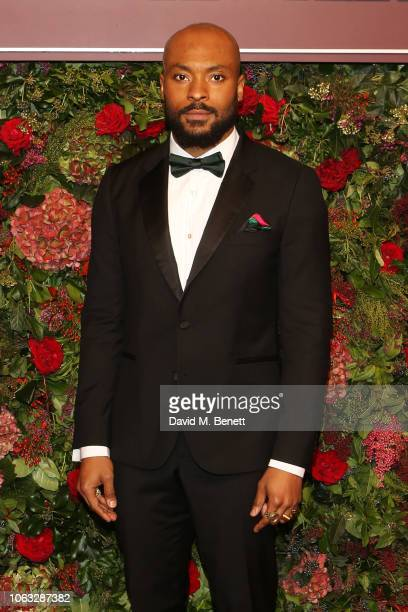 Arinze Kene arrives at The 64th Evening Standard Theatre Awards at the Theatre Royal Drury Lane on November 18 2018 in London England