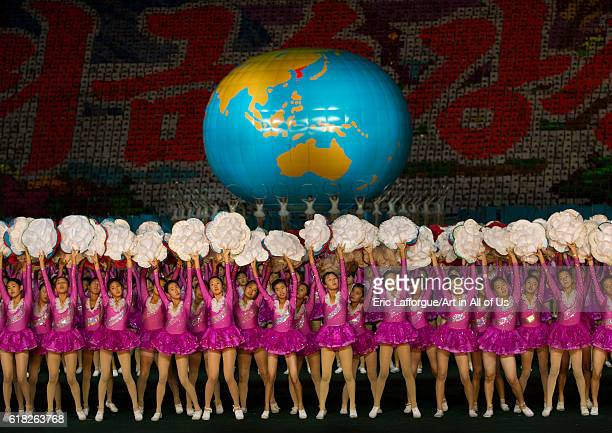 Arirang mass games at may day stadium pyongyang North Korea on September 8 2012 in Pyongyang North Korea