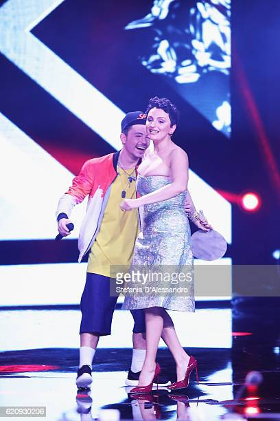 Arisa and Loomy attend 'X Factor' Tv Show on November 3 2016 in Milan Italy