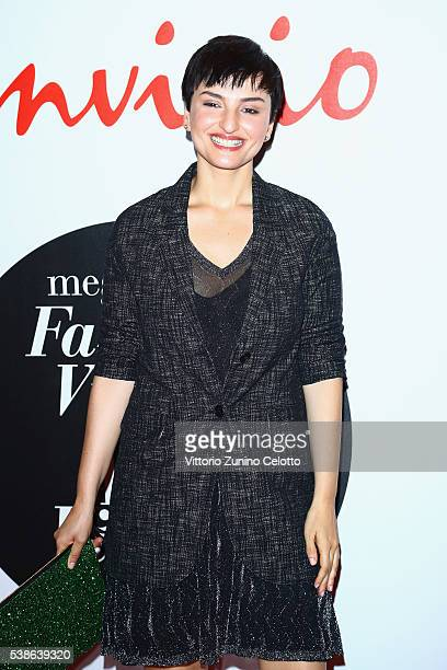 Arisa attends Convivio 2016 photocall on June 7 2016 in Milan Italy
