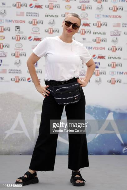 Arisa attends Giffoni Film Festival 2019 on July 21 2019 in Giffoni Valle Piana Italy