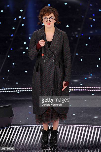 Arisa attends the 60th Sanremo Song Festival at the Ariston Theatre On February 16 2010 in San Remo Italy