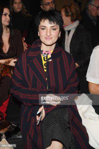 Arisa attends the Anteprima show during Milan Fashion Week Fall/Winter 2017/18 on February 23 2017 in Milan Italy