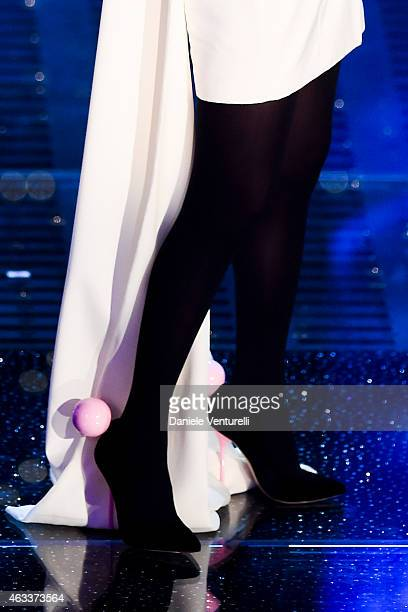Arisa attends the Fourth night of 65th Festival di Sanremo 2015 at Teatro Ariston on on February 13 2015 in Sanremo Italy