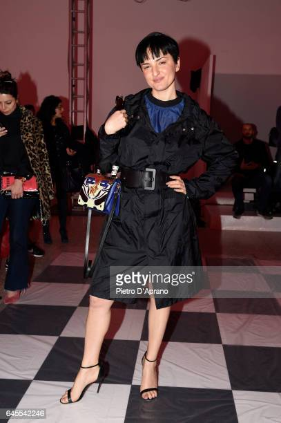 Arisa attends the MSGM show during Milan Fashion Week Fall/Winter 2017/18 on February 26 2017 in Milan Italy